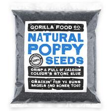 Gorilla Food Co. Natural Poppy Seeds Blue - 200g-6.4kg (Great value £ per 1kg)