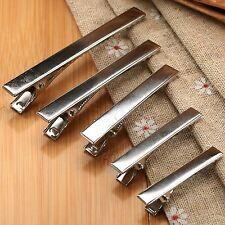 Wholesale Flat Metal Single Prong Alligator Hair Clip Barrette Bows DIY Silver
