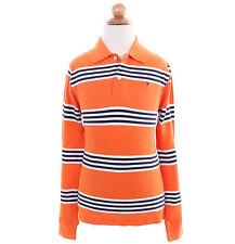 Tommy Hilfiger Children Big Boy Kid Stripe Long Sleeve Pique Polo Shirt -$0 Ship