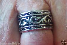 Stainless Steel Tribal Ring/Wedding Band - Men's-SR4017-J