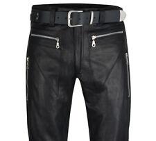 Designer pantalon cuir Neuf Cuir Jeans Noir кожаные брюки Cuir Doublure
