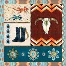 Ceramic Tile Mural Backsplash Manouvrier Southwest Art  CCI-AM-SJ01