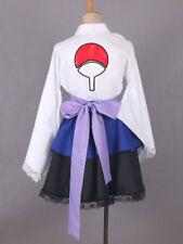 Naruto Shippuden Uchiha Sasuke Female Lolita Kimono Dress Anime Cosplay Costume