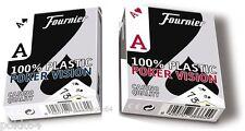 Juego de 52 cartas POKER FOURNIER VISION 100% plástico, de 1 o 2 juegos 366629