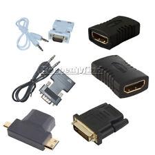 HDMI Female to Female/HDMI Male/VGA Male/24+1Pin DVI Male Adapter Connector HDTV