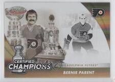 2011 Panini Certified Champions Mirror Gold 18 Bernie Parent Philadelphia Flyers