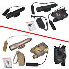 LA-PEQ15 Red Laser + WMX-200 Illuminator Flashlight + 2 Plug Switch Hunting