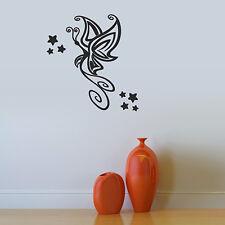Tatuaggio Muro Farfalla & stelle adesivi Wall Art Muro Tatuaggio #2053