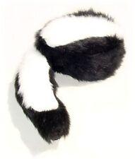 Skunk Hat  Faux Fur & Tail Cap Warm Soft S-XL Size  Mountain Men Animal Crockett