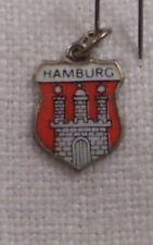 Vintage REU Sterling/Enamel  Hamburg, Germany Shield Charm - New