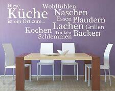 X540 Wandtattoo Spruch - Diese Küche Ort Kochen Essen Wandsticker Wandaufkleber