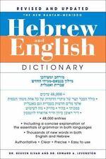 The New Bantam-Megiddo Hebrew & English Dictionary, Revised: By Levenston...