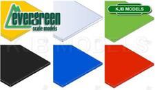 Evergreen Scale Model Styrene Plain Colour Sheets Plastic White Clear Black etc