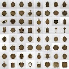 10pcs Antique Bronze Vintage Alloy Pendant Cabochon Bezel Settings Nickel Free