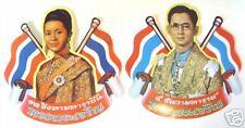 2 AUFKLEBER Sticker BHUMIPOL & SIRIKIT Thailand 11x11cm