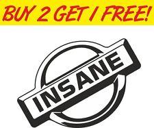 Nissan Insane JDM 4x4 Funny Drift Vinyl Sticker Graphic Decal