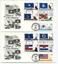 4293-02 Flags of our Nation: 3 Artcraft 2, machine, FDOI  FDCs
