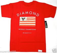 Diamond Supply Co. T Shirt Founders Tee  Red  100%  Cotton Diamond Supply