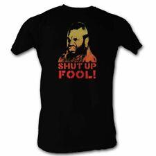 Mr. T Shut Up Fool Black T-Shirt