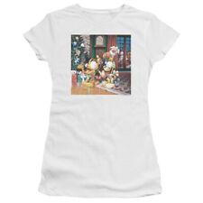 Garfield Odie Tree Juniors Short Sleeve Shirt White