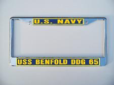 Uss Benfold Ddg 65 License Plate Frame U S Navy Usn Military