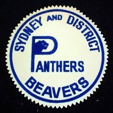 Vintage Patch SYDNEY AND DISTRICT BEAVERS PANTERS Logo Nova Scotia