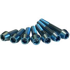 M6 Tornillos De Titanio Azul Hielo Color Increíble Calidad Garantía De Por Vida