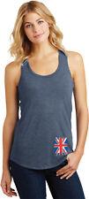 Buy Cool Shirts Ladies Union Jack Racerback Tank Top Bottom Print