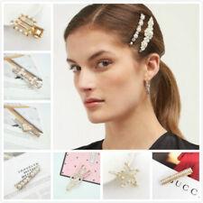 Women Pearl Hair Clips Snap Hairpin Bridal Pearl Hair Clip Barrette Slide Grips