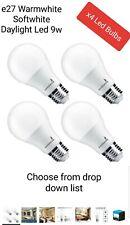 E27 Edison Screw  LED Light Bulb  9W  SOFT GLOW ,WARM WHITE &  DAYLIGHT