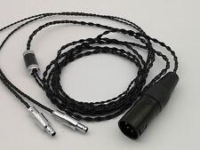 4Core Pure Silver Cable Sennheiser HD800 4pin XLR male Balance Plug