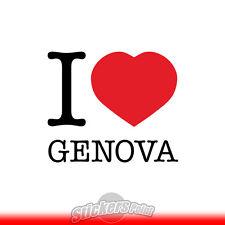 adesivo I LOVE GENOVA sticker PVC auto moto - Alta Qualità 2 colori