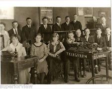 Vintage Telegraph School Antique Typewriters Telegraph Students Typing classroom