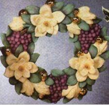 """Ceramic Bisque Ready to Paint """"Magnolia""""  Wreath"""