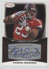 2009 SAGE Autographs #A25 Rashad Jennings Liberty Flames Auto Football Card