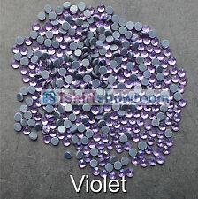 Violeta-TSS a granel venta al por mayor de la revisión de hierro en Rhinestone Piso Nuevo De Calidad Premium