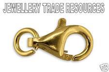 18 quilates chapado en oro amarillo de langosta Gatillo joyas broche 8 Mm
