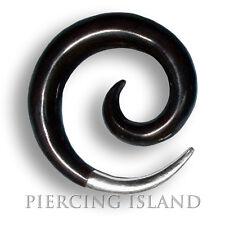 6/ 8/ 10/ 12mm Dehnungsspirale Sichel Horn Silber Ear Ohr Piercing Expander 007