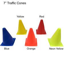 "7"" Vehicle Pedestrian Training Sport Traffic Cones - Blue, Orange, Red, Yellow"