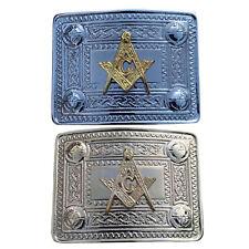 CC Men's Highland Kilt Belt Buckle Masonic Chrome/Gold Finish/Celtic Belt Buckle
