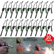 20xSurvival Magnesium Flint Stone Fire Starter Emergency Lighter Kit For Camping
