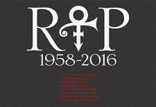 RIP Prince Logo Symbol Car Wall Sticker Decal
