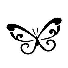 "4"" BUTTERFLY v2 Vinyl Decal Sticker Car Window Laptop Butterflies Bug Pretty"