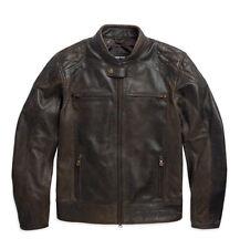 Harley Davidson BLACK LABEL #1 Vintage Brown Leather Jacket 97055-15VM L XL 3XL