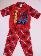 Spider Sense Spider-Man Kids Boys Pajama Sleepwear NWT RED Sizes 3,4,5,6