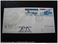TAAF lettre 21/6/83 - timbre - yvert et tellier aérien n°64 et 74 (cy4)