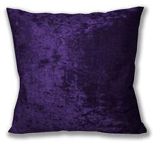 Mv29a Purple Diamond Crush Cotton Velvet Cushion Cover/Pillow Case Custom Size