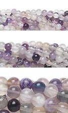 50 Piece Round Rainbow Fluorite Natural Genuine Gemstone Loose Beads Small - Big