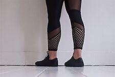 no meshing around leggings black with pothole and  mesh panel  gym activewear