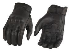 Milwaukee Leather Men's Leather Glove w/ Rubberized Knuckle & Gel Palm MG7501